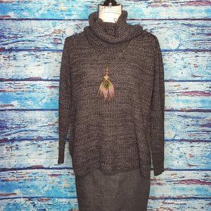 🤟It's Our Time Grey Cowl Neck Sweater Size LG